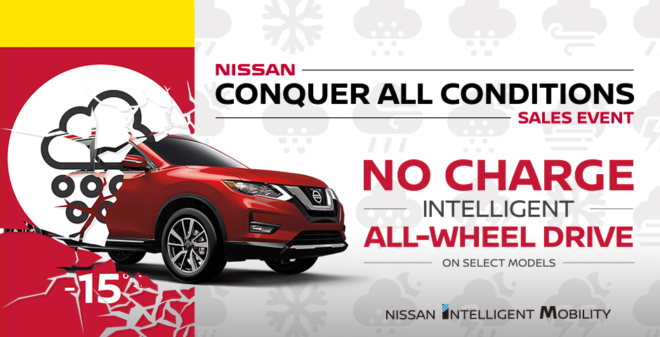 Nissan Canada - No Charge All-Wheel Drive upgrade