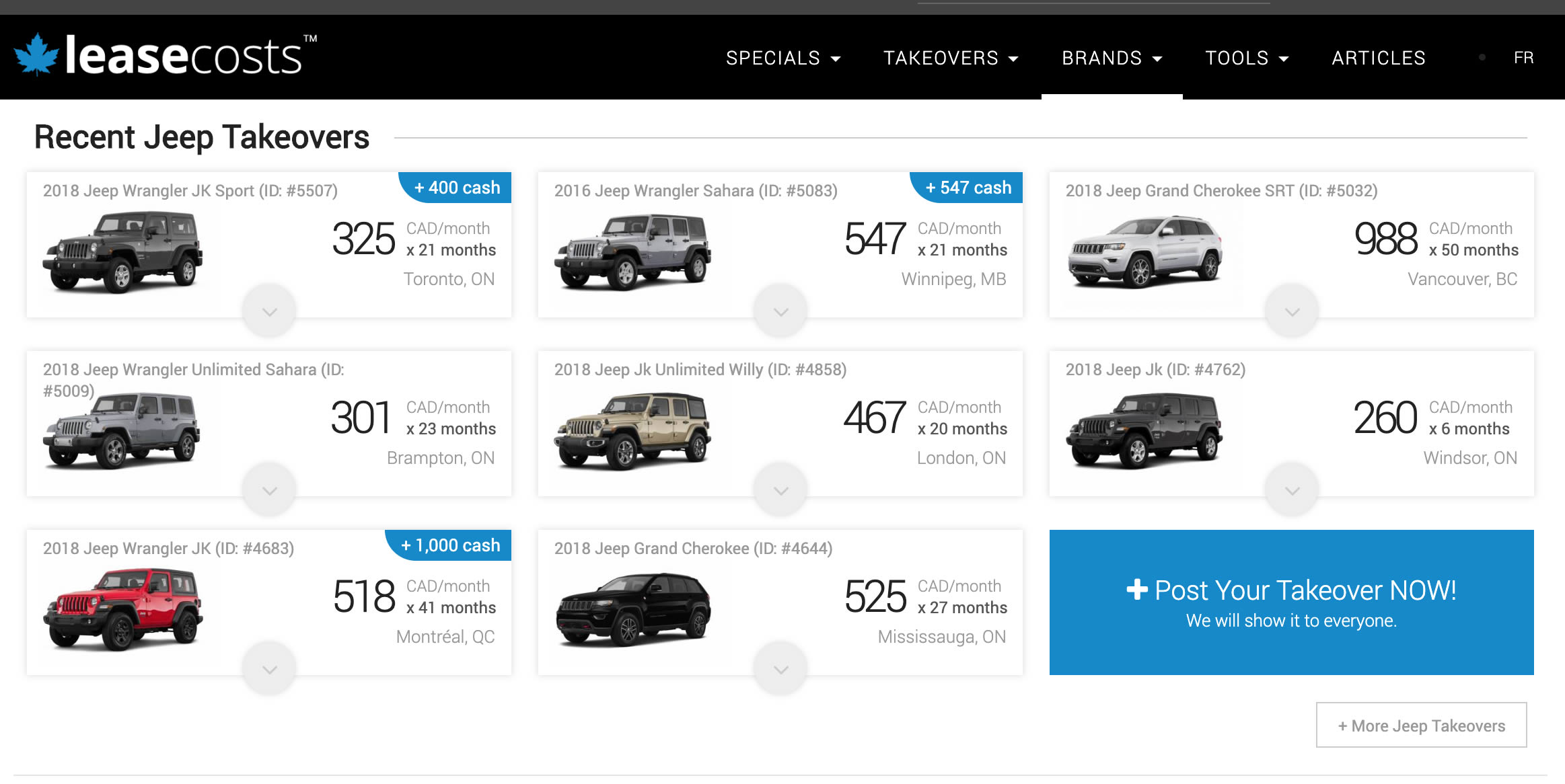 Short Term Car Rentals with Turo: Jeeps Available