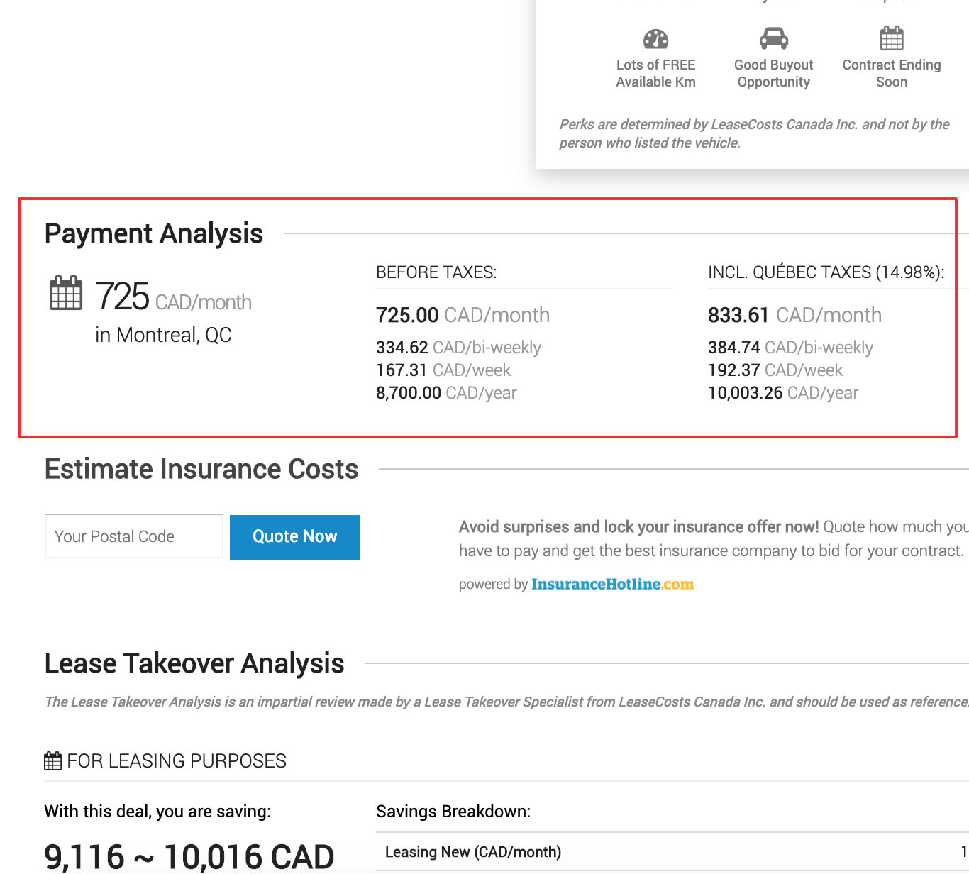 Lease Takeover Payment Analysis