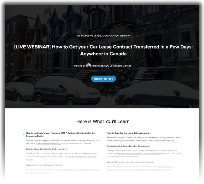 Live Webinar: Transfer your Car Lease in Days • LeaseCosts