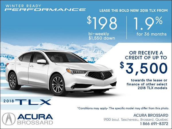 Acura Brossard - Lease the 2018 Acura TLX Today!