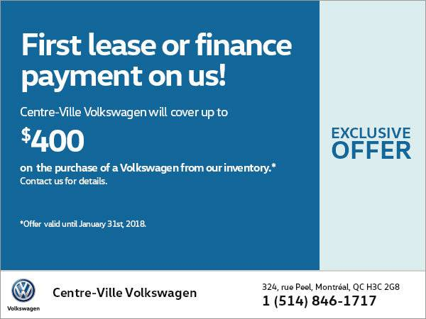 VW Centre Ville - 1st Payment Free In January!