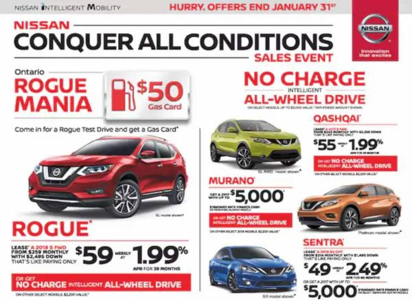 Myers Nissan Ottawa - Test Drive a Rogue and get a $50 Gas Card