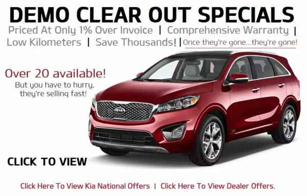 Winnipeg KIA - Demo Clear out Specials