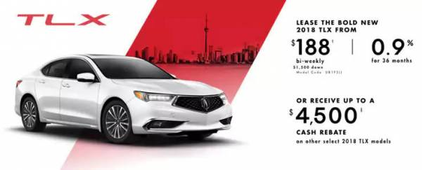 Acura of North Toronto - 2018 Acura TLX
