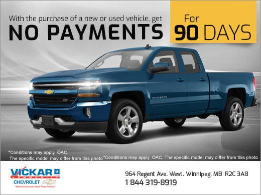 Vickar Chevrolet - No Payments for 3 Months!
