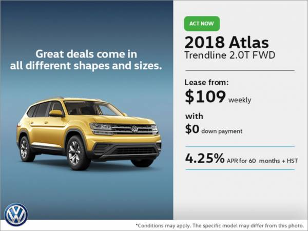 Yorkdale VW Toronto - Get the 2018 Atlas Today!