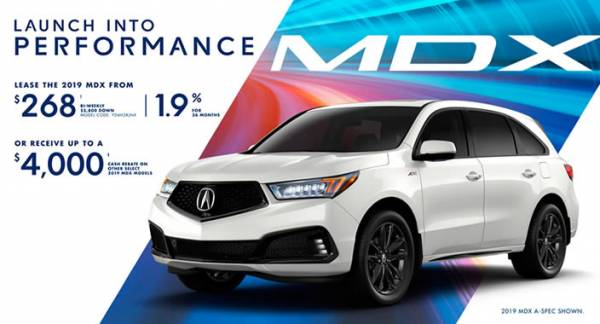 Hamilton Acura - 2019 Acura MDX $268 bi-weekly with $5,800 cash down. 1.9% for 36 months