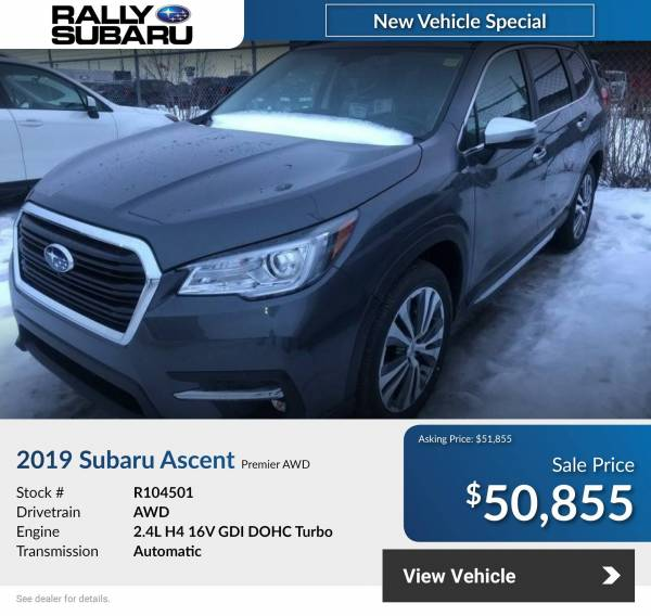 Rally Subaru - 2021 Subaru Ascent Premium 2.4L