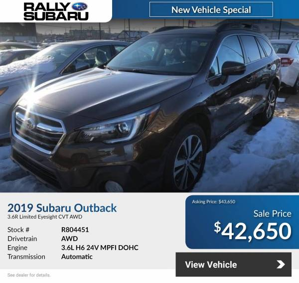 Rally Subaru - 2021 Subaru Outback 3.6R Limited Eyesight!