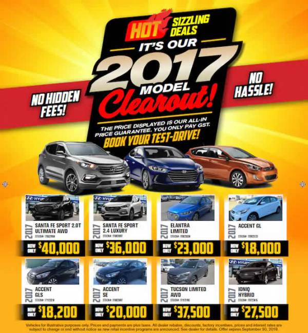 Calgary Hyundai - 2017 Models Clearout Event!