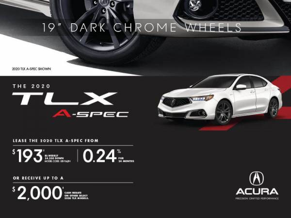 Acura of North Toronto - 2020 Acura TLX lease for $193 bi-weekly x 24 Months