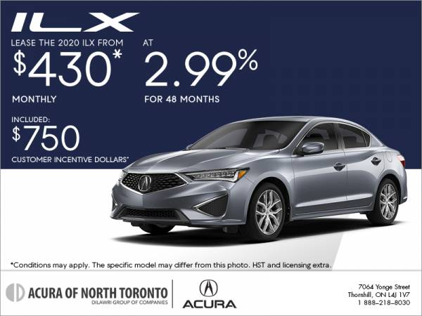 Acura of North Toronto - 2020 Acura ILX lease for $88 weekly with 4,600 down x 36 Months