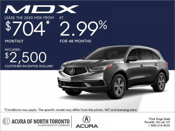 Acura of North Toronto - 2020 Acura MDX lease for $258 bi-weekly with 6,500 down x 36 Months